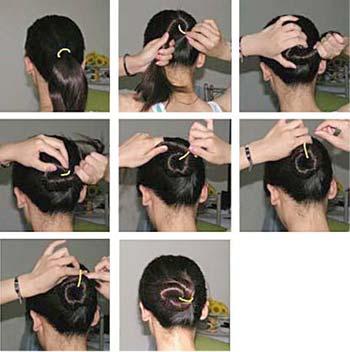 女人味十足 4种盘发diy图解图片